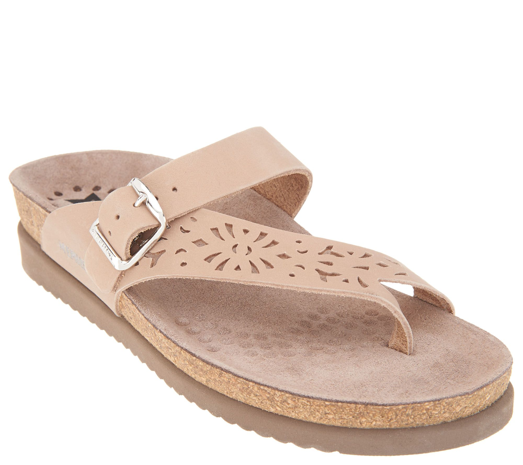 Mephisto Perforated Nubuck Toe Loop Sandals - Helen Perf free shipping shop for 1Ng5ZVnApA