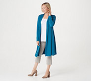 Every Day by Susan Graver Petite Liquid Knit Duster Cardigan - A310723
