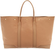 Martha Stewart Large Canvas Tote with Leather Trim - A342823