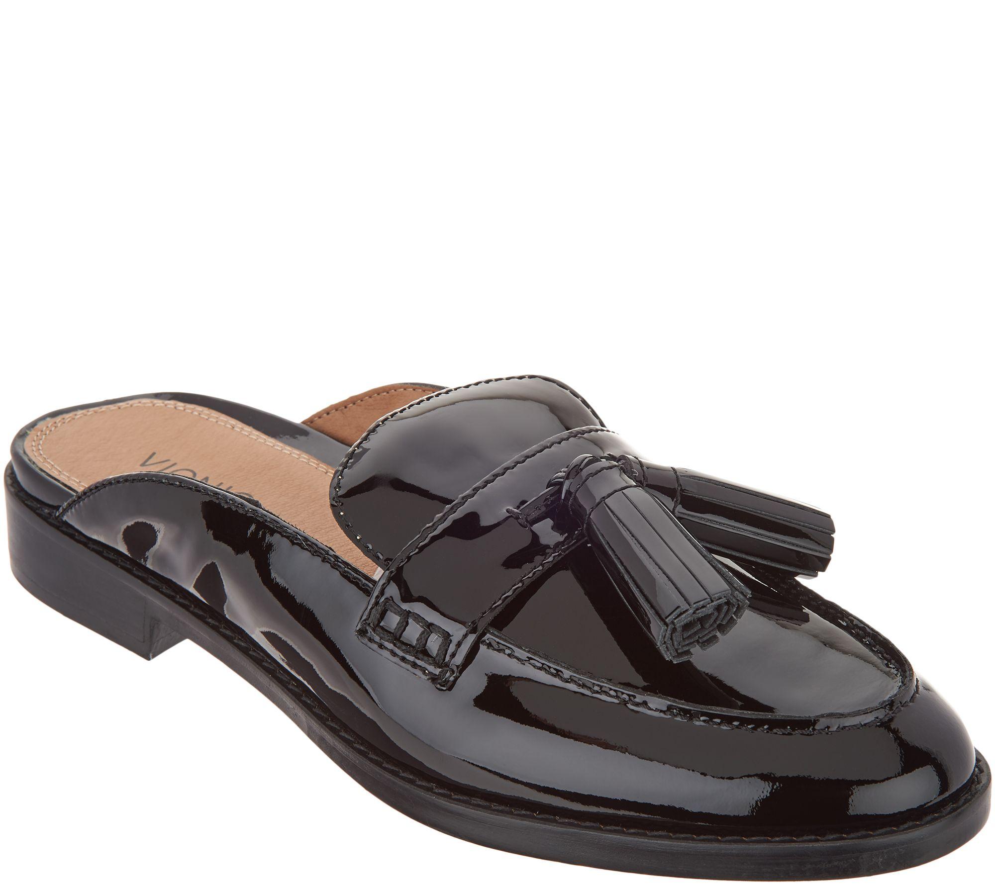 52bbed7479b Vionic Leather Mules with Tassel - Reagan — QVC.com