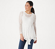 Attitudes by Renee Ruffle Lace Tunic and Tank - A350623