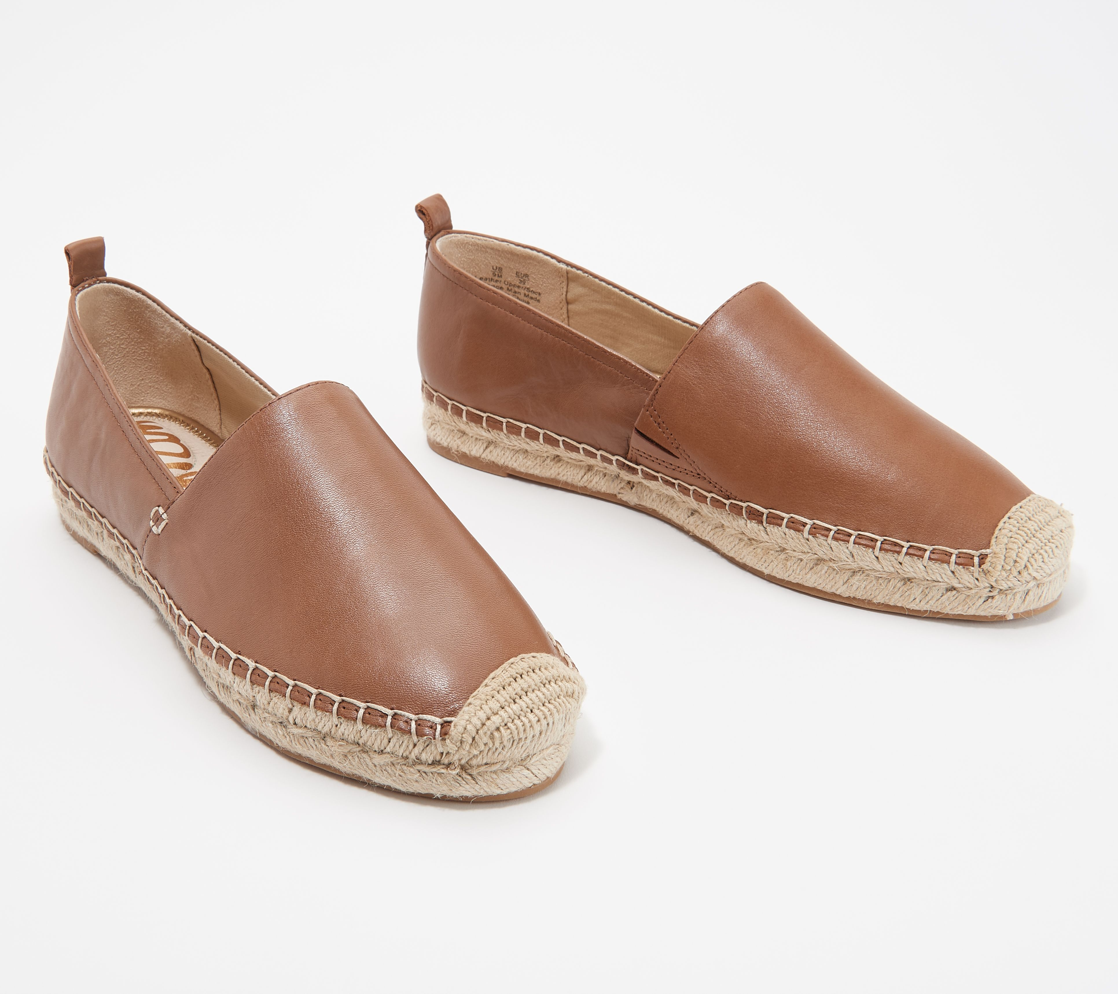 16dadb40f4 Sam Edelman Leather Slip-On Espadrilles - Khloe - Page 1 — QVC.com