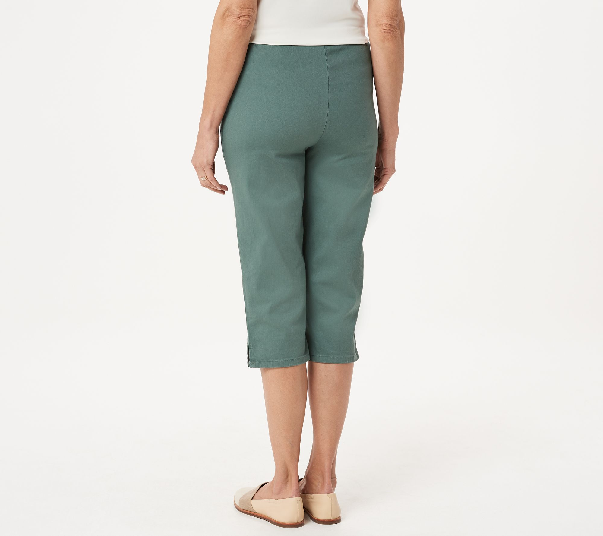 Style & Co Cargo Capris 18 Olive In Short Supply Clothing, Shoes & Accessories