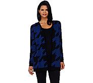 Susan Graver Cotton Acrylic Jacquard Sweater Cardigan - A269224