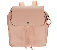 Isaac Mizrahi Live! SOHO Pebble Leather Backpack - A271224