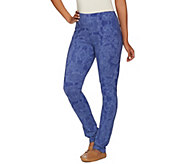 Susan Graver Weekend Printed Cotton Spandex Leggings - A274524
