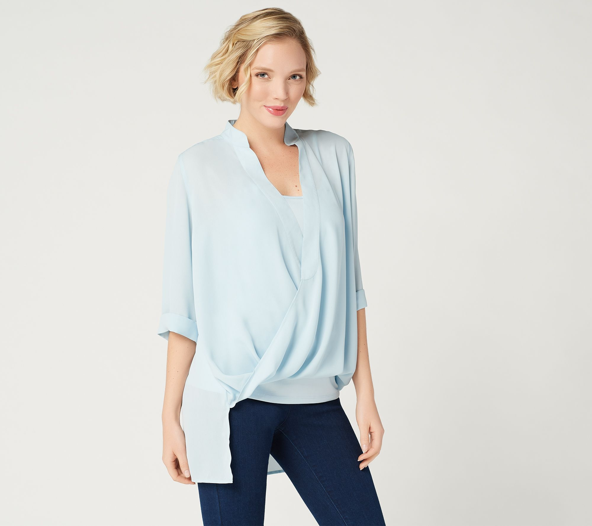 3aaf1882713a7 Lisa Rinna Collection Twist Front Top with Camisole - Page 1 — QVC.com