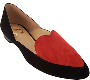 C. Wonder Suede Heart Loafers - Claire