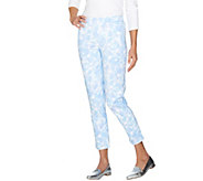 Isaac Mizrahi Live! Regular Brushed Sateen Pull-On Ankle Pants - A289624