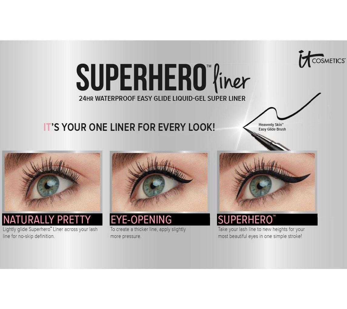 2993791346d IT Cosmetics Superhero 24-hr Waterproof Liquid-Gel Super Liner Duo - Page 1  — QVC.com