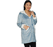 Cuddl Duds Frosted Fleece Zip-Up Robe with Sherpa Trim - A294824