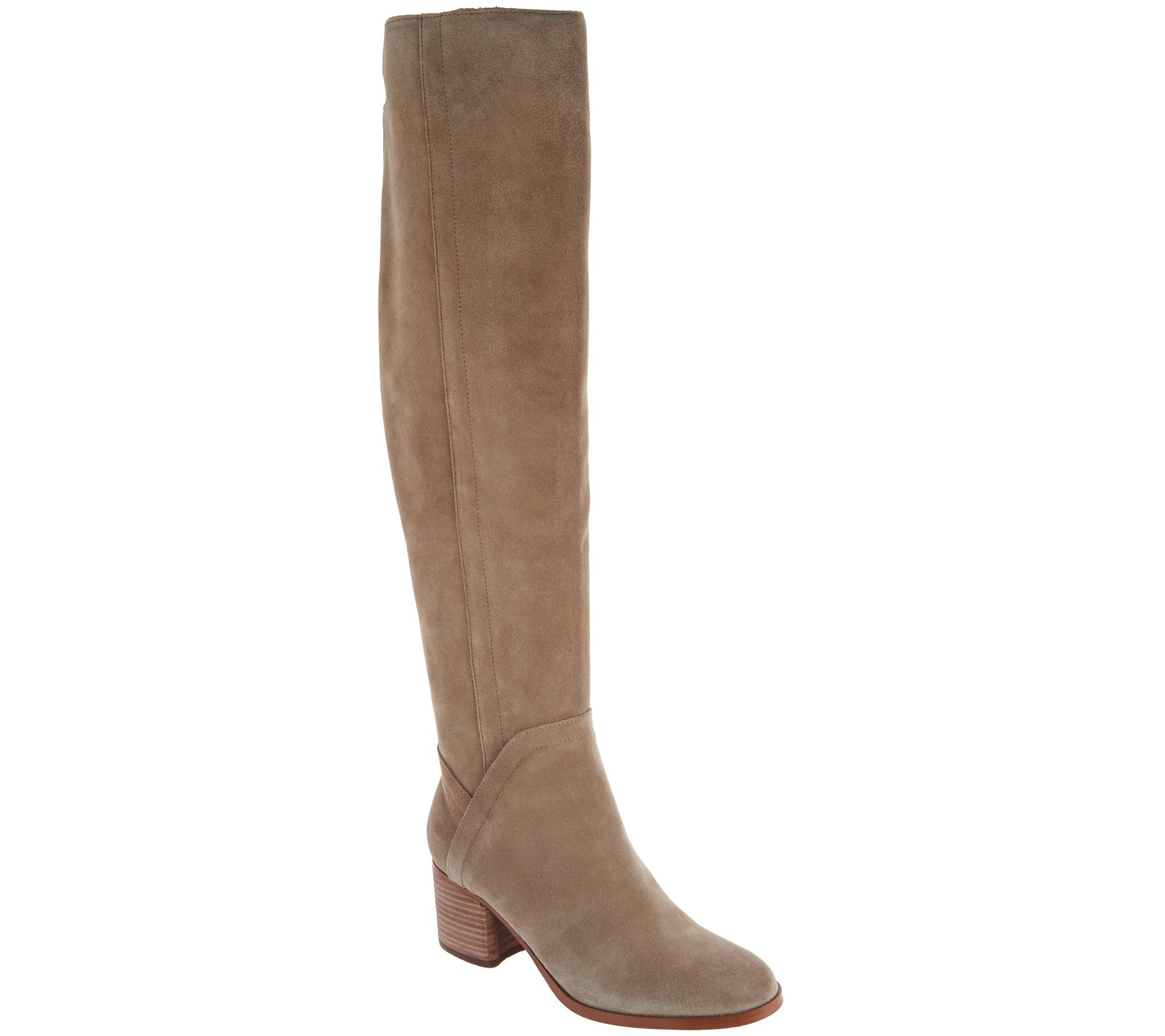 62aa7ef716e Marc Fisher Medium Calf Suede Over-the-Knee Boots - Elanie - Page 1 — QVC .com
