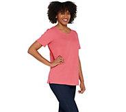 Joan Rivers Wardrobe Builders Textured Knit Tee Shirt - A301824