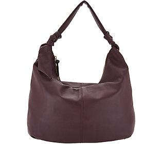 1baa769f3f As Is Tignanello Smooth Leather Soft KnotHobo Handbag (A304624) photo