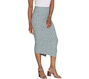 G.I.L.I. Regular Asymmetrical Hem Rib Knit Skirt - A306824