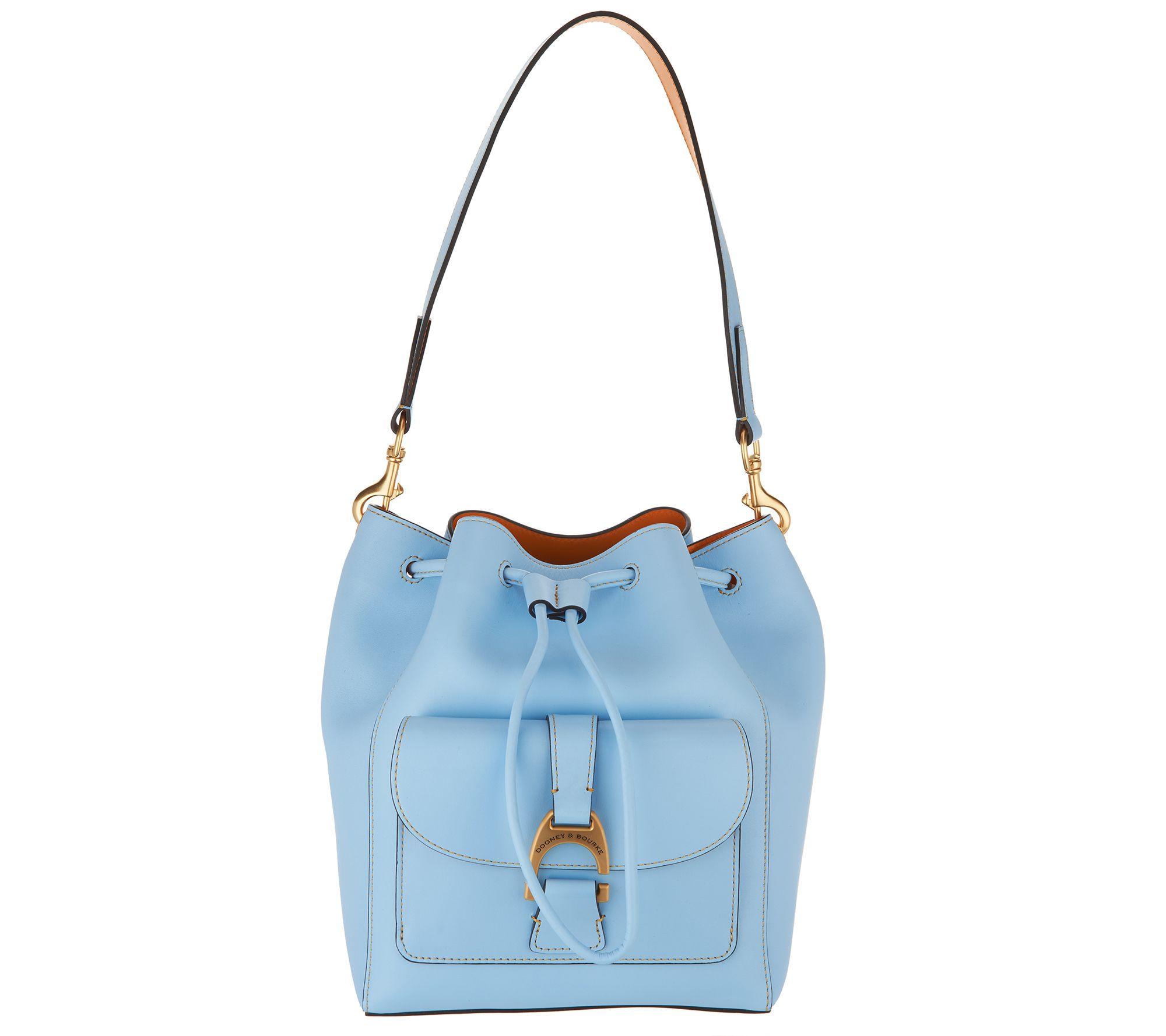 c257ce940dd8 Dooney & Bourke Emerson Leather Drawstring Bag - Marlowe — QVC.com