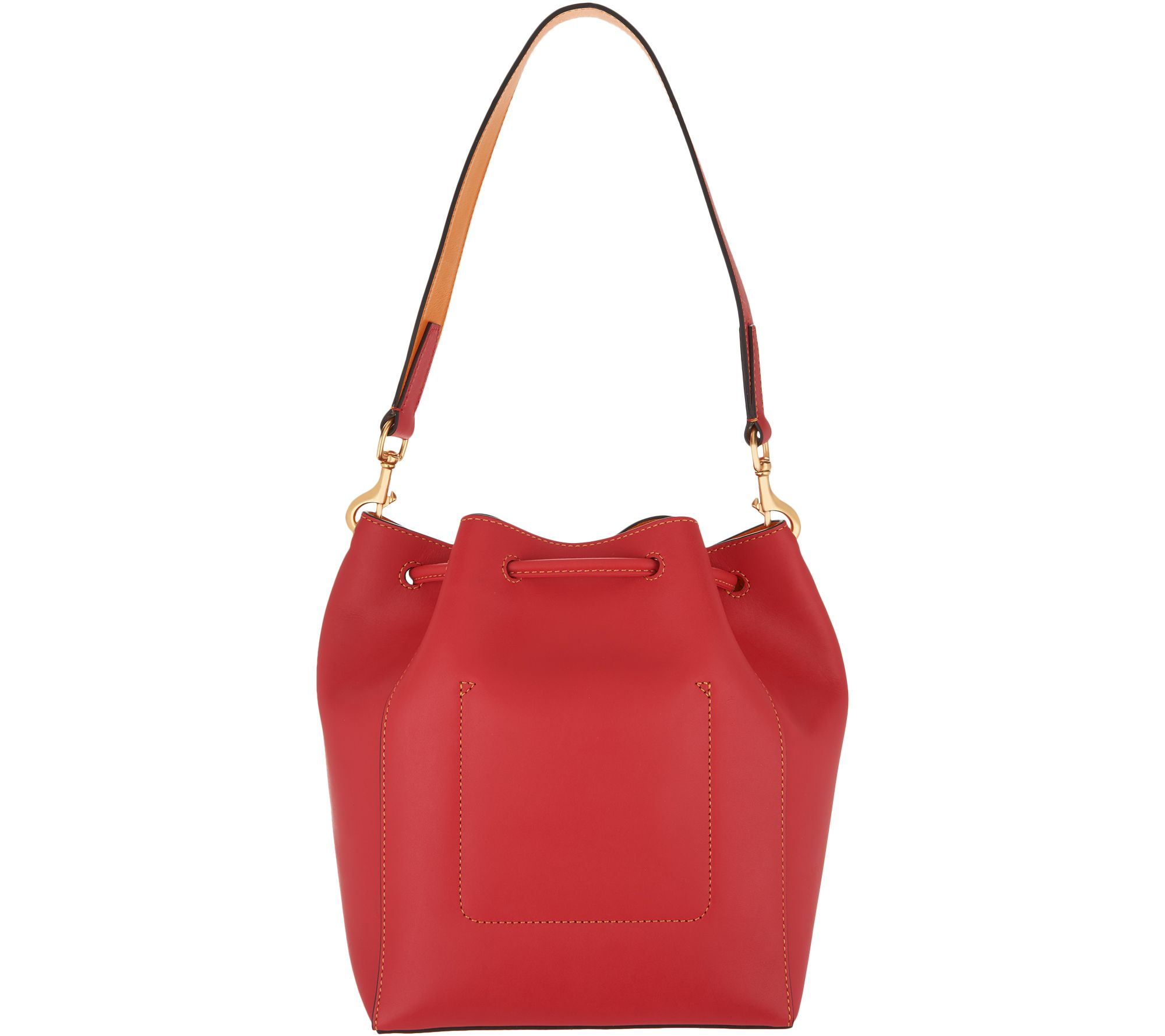 c257ce940dd8 Dooney & Bourke Emerson Leather Drawstring Bag - Marlowe — QVC.com