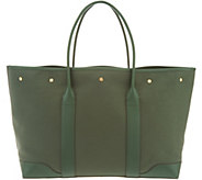 Martha Stewart Medium Canvas Tote with Leather Trim - A342824