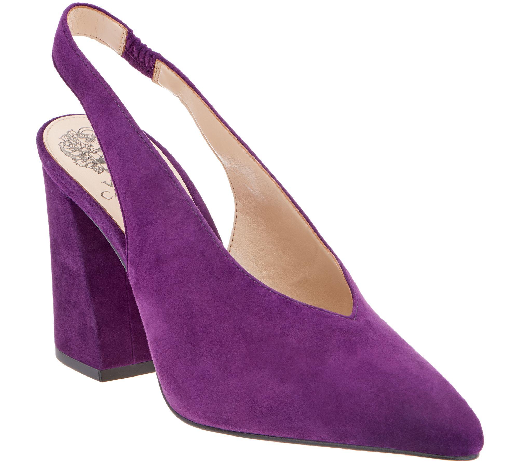 Purple Block Heel Shoes