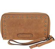 frye & co. Leather Stud Phone Wristlet Wallet - Victoria - A344724