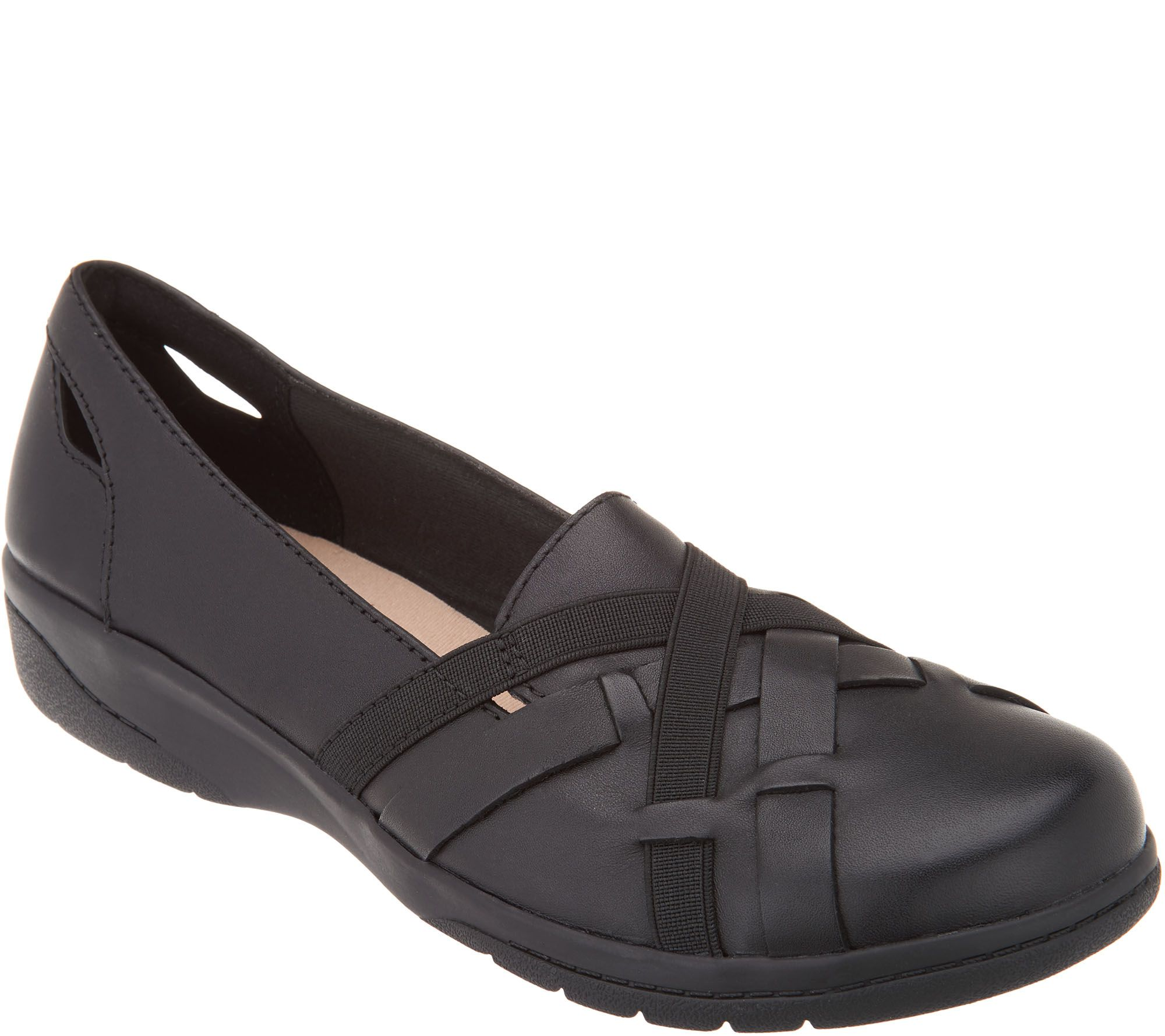 800c27a8 Clarks Collection Leather Slip-On Shoes - Cheyn Creek — QVC.com