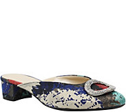 J. Renee Low Block Heel Mules - Melosa - A414324