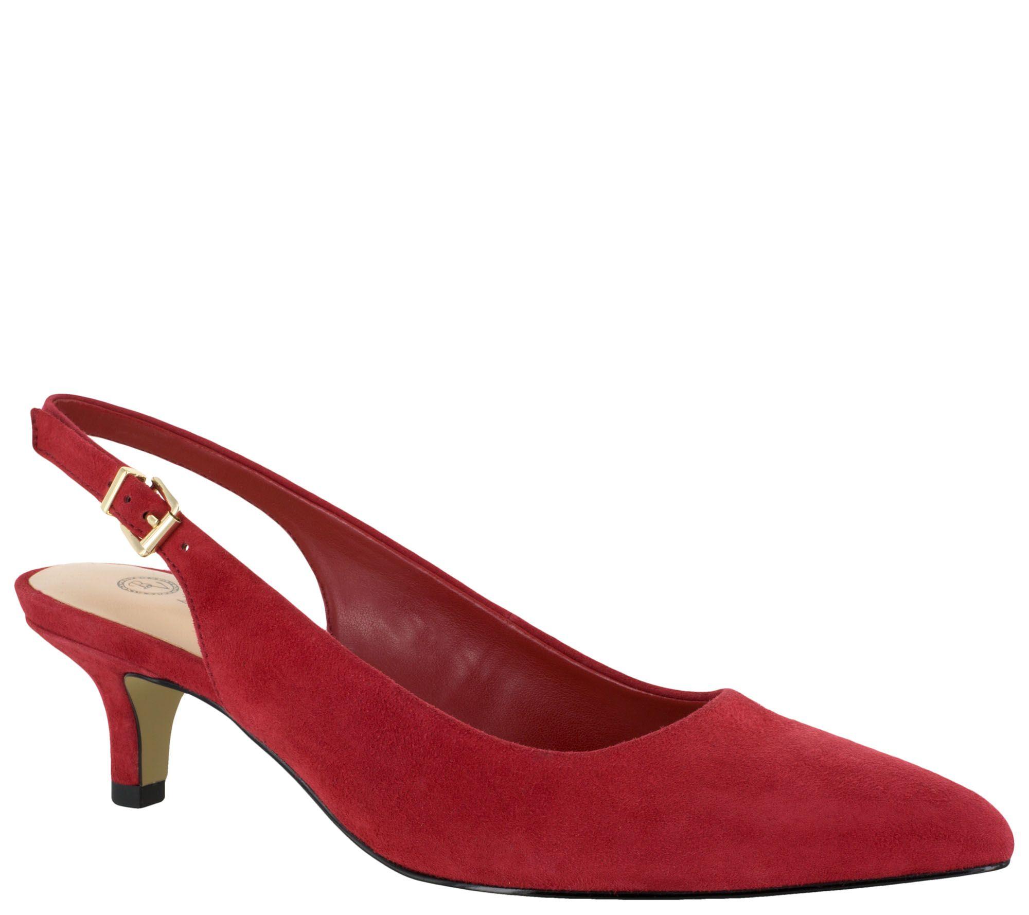Red Kitten Heel Pumps