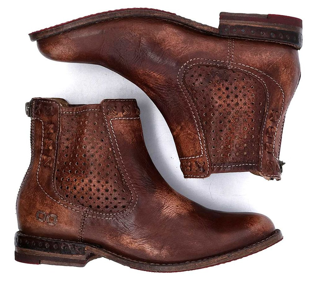 BED STU Leather Ankle Boot - Baylene - QVC.com