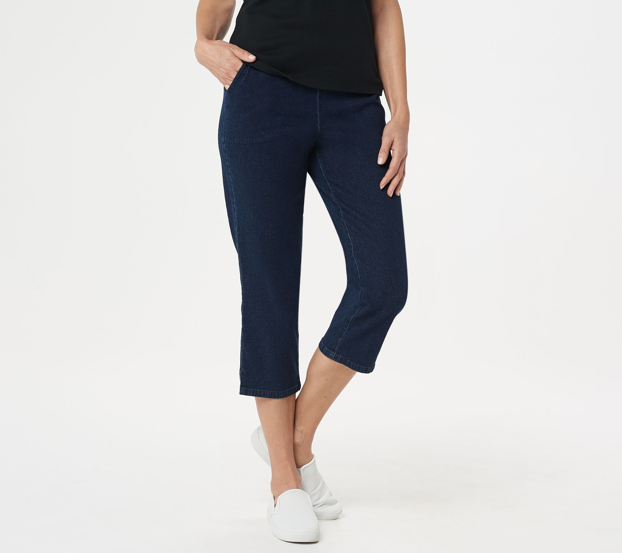 2bd1c975 Original Waist Stretch Crop Pants with Side Pockets - Page 1 — QVC.com