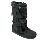 Minnetonka Childrens 3 Layer Fringe Boots - A209225