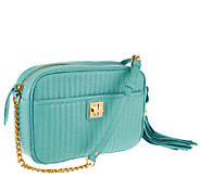 As Is Isaac Mizrahi Live! Bridgehampton Lamb Leather Camera Bag - A272025