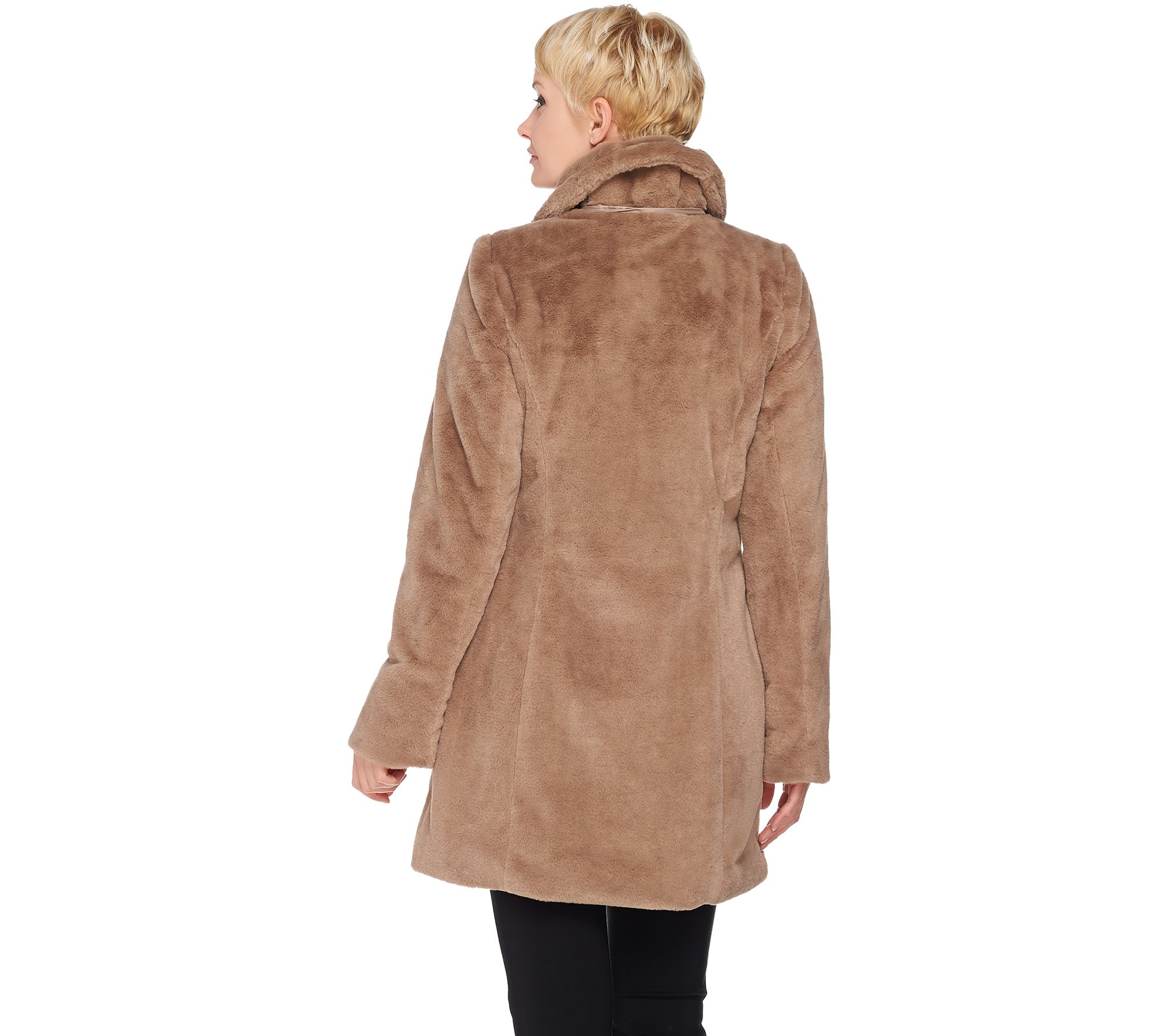 35b721ee0789 Womens Metallic Work Clog Sr check out d936e 1af49  Dennis Basso Faux Fur  Coat with Removable Hood and Collar - Page 1 — QVC.