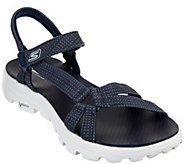 As Is Skechers GO Walk Move Strap Sandals - Riverwalk - A287225