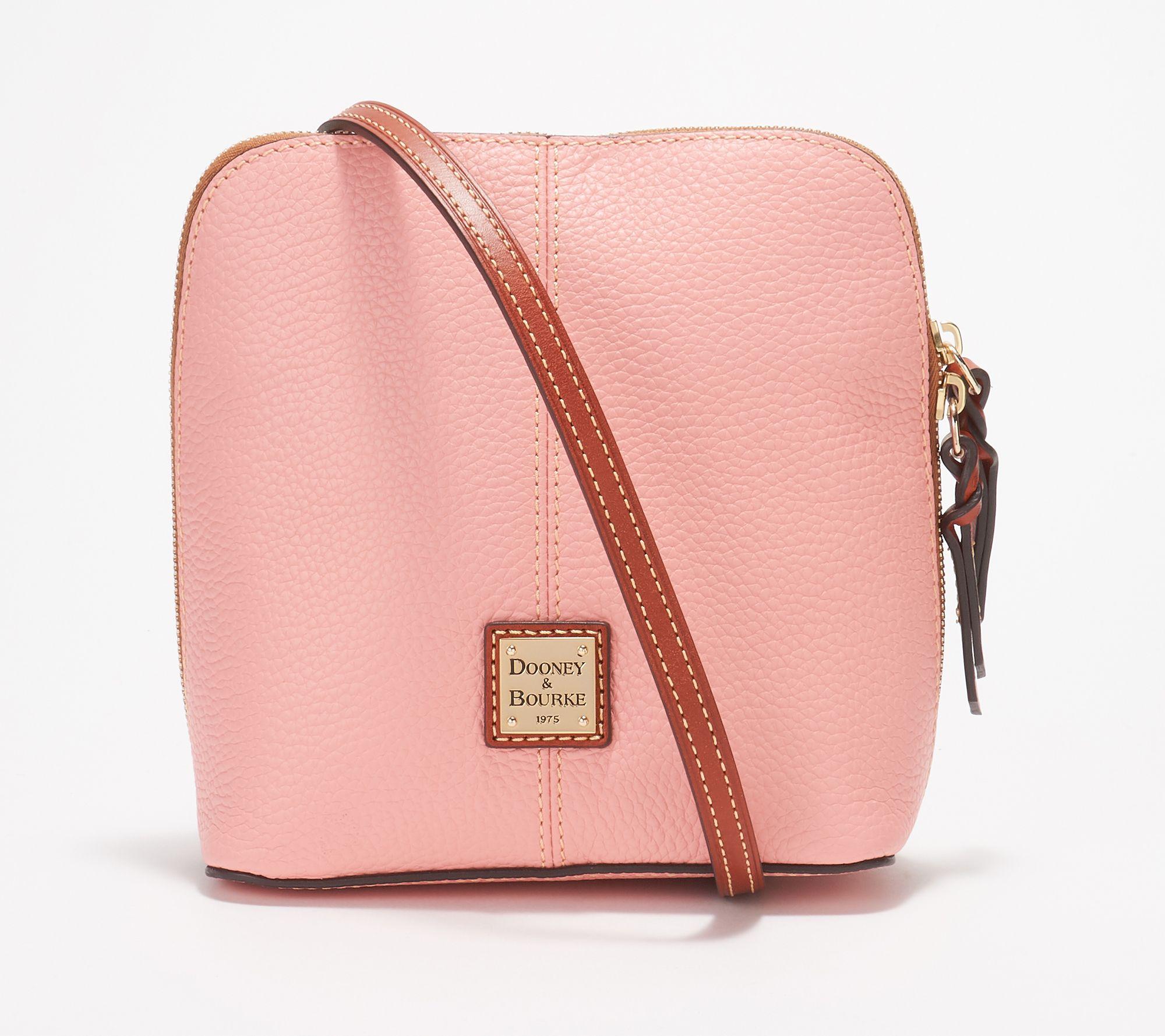 b187684d729bd Dooney   Bourke Pebble Leather Crossbody Handbag -Trixie - Page 1 — QVC.com