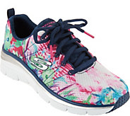 As Is Skechers Tropical Print Sneaker Wedges- SpringEssential - A300925