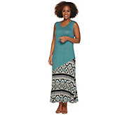 Joan Rivers Regular Length Mixed Pattern Sleeveless Maxi Dress - A301925