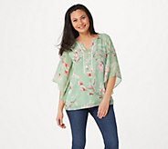 Belle by Kim Gravel Magnolia Print Blouse - A303725