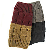 MUK LUKS Womens Two Pair Reversible Boot Toppers - A337625