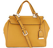 Vince Camuto Solid Leather Satchel - Carla - A342325