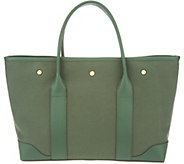 Martha Stewart Small Canvas Tote with Leather Trim - A342825