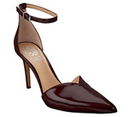 Vince Camuto Pointy Toe Ankle Strap Pumps - Maveena - A343325