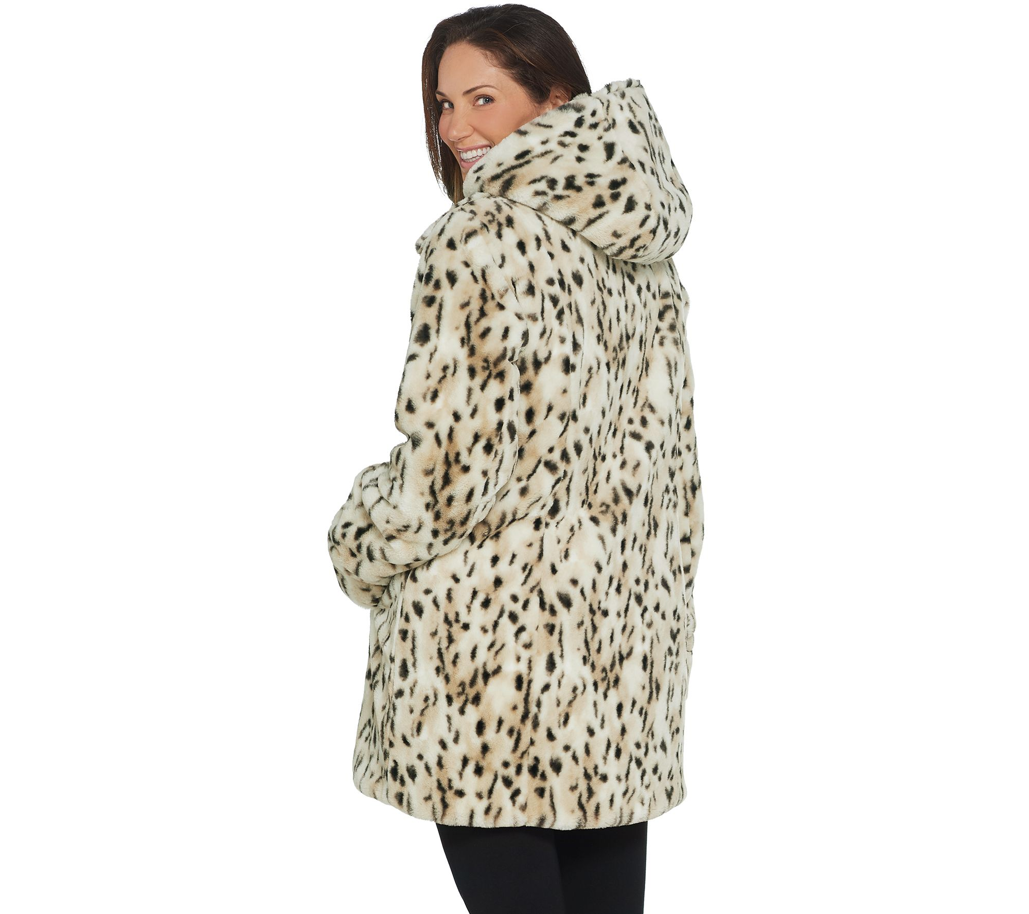 f8298c724b9fa Dennis Basso Reversible Diamond Quilted and Faux Fur Coat - Page 1 — QVC.com