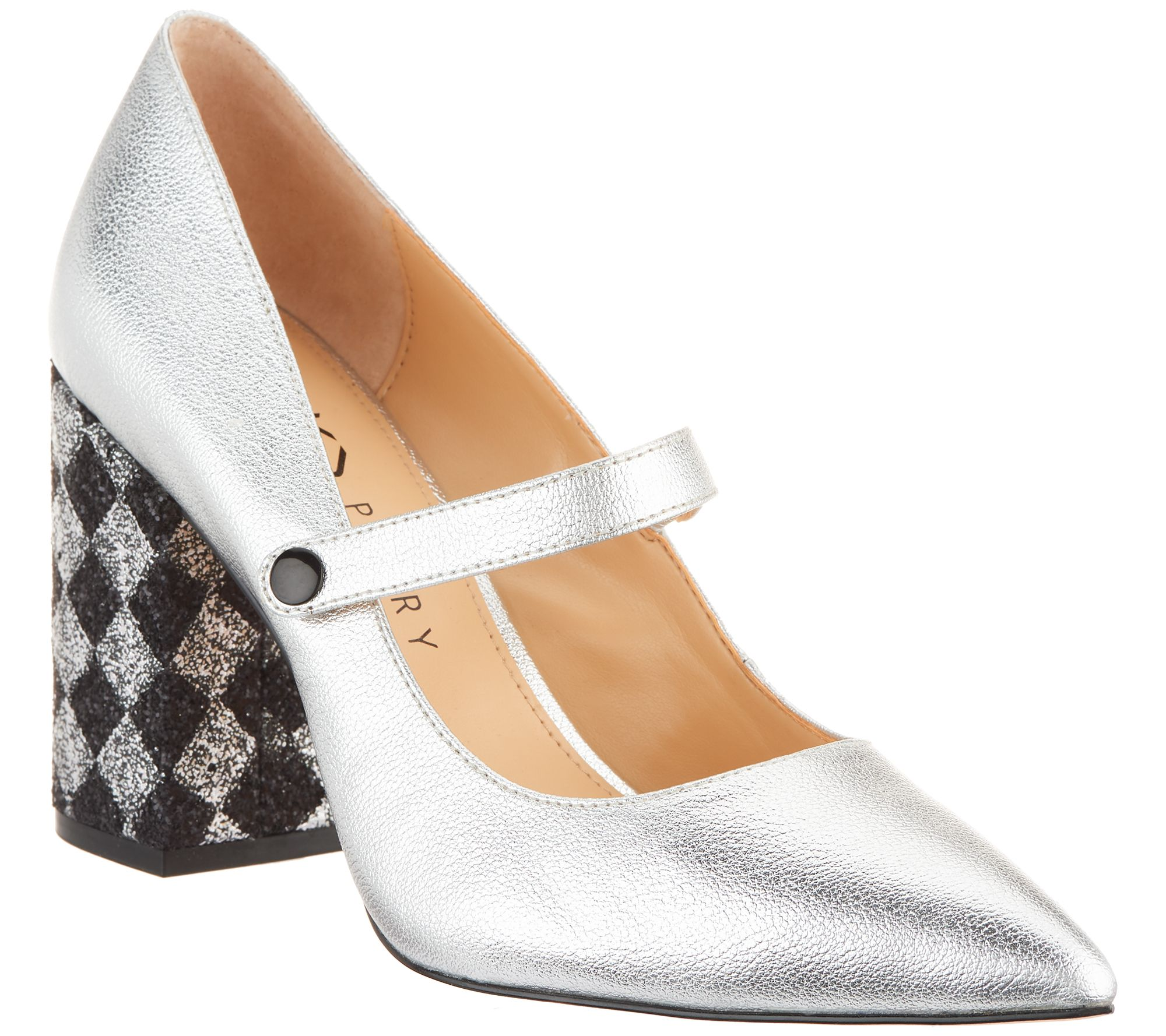 5676f44f708 Katy Perry Leather Pointed Toe Mary Janes - The June — QVC.com