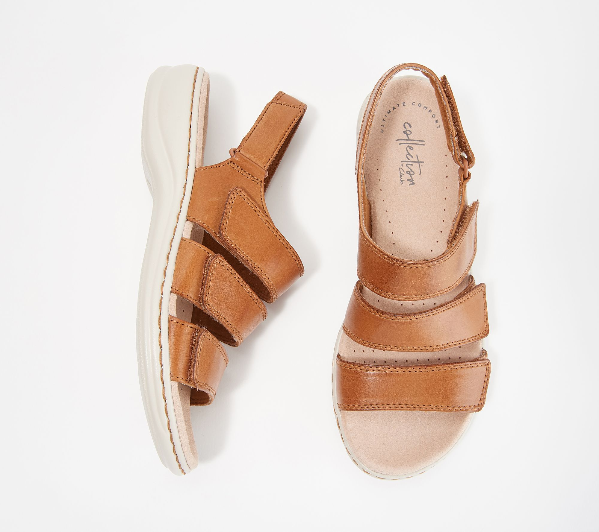 88ef9e7ed77f Clarks Collection Leather Sandals - Leisa Melinda - Page 1 — QVC.com