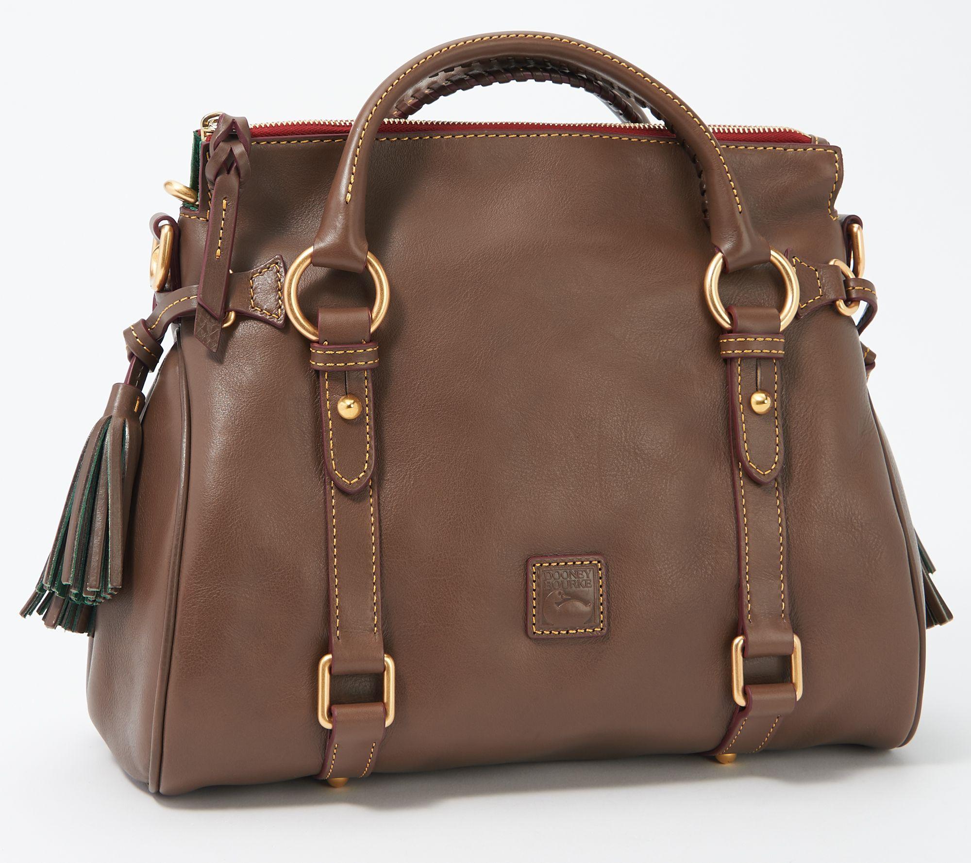 d61765524724 Dooney & Bourke Florentine Leather Medium Satchel — QVC.com