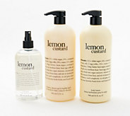 philosophy super-size fresh & creamy gel, lotion & body spritz set - A382825