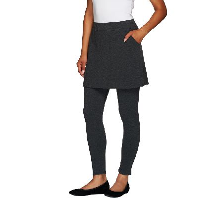 9ec50cfe414279 Legacy French Terry Ankle Length Skirted Leggings - Page 1 — QVC.com