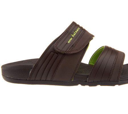 7016393941a3 New Balance Women s Revitalign Orthotic Slide Sandals — QVC.com