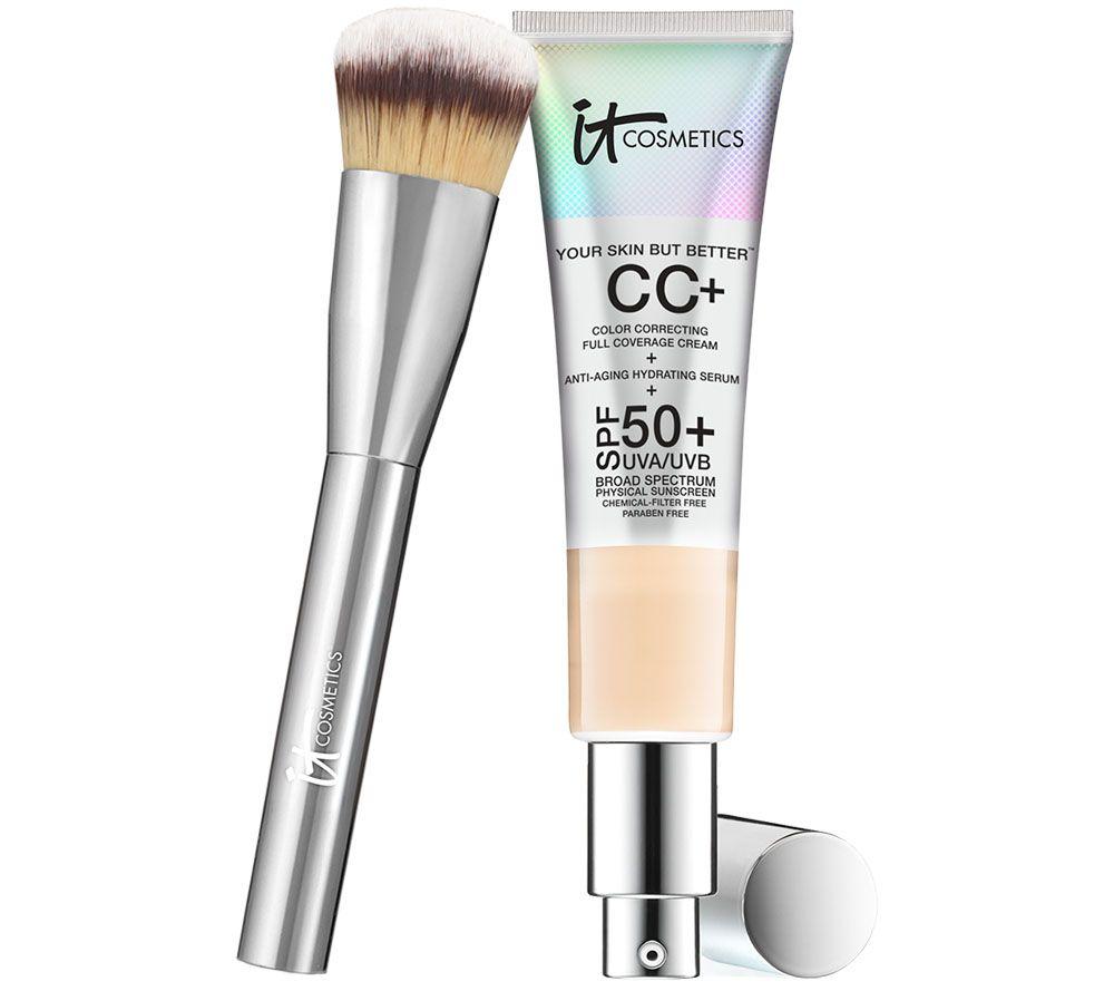 It Cosmetics Full Coverage Physical Spf 50 Cc Cream With Plush Brush