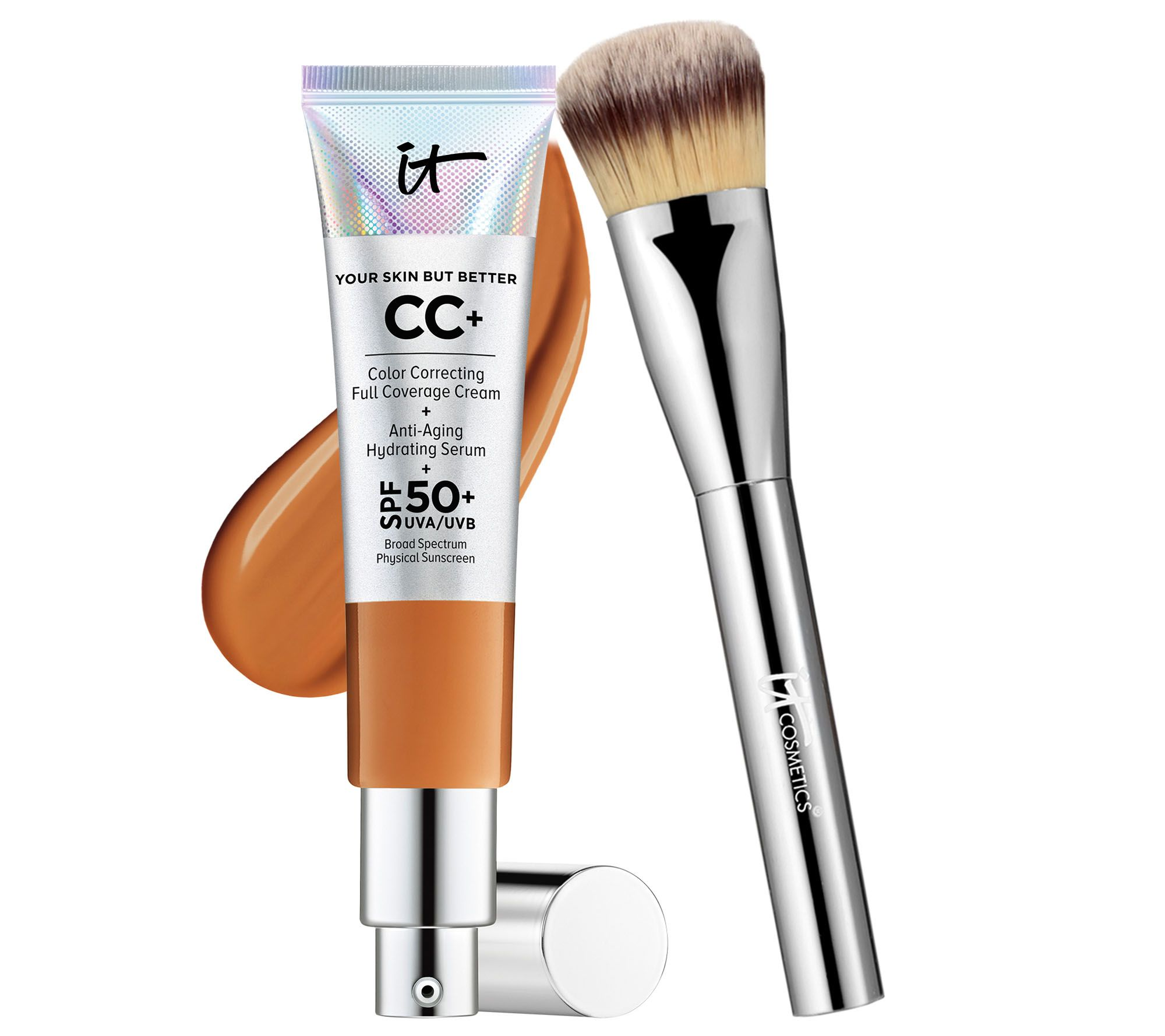 It Cosmetics Full Coverage Physical Spf 50 Cc Cream With Plush Brush Barbara Hair Styling Spray 450 Ml Page 1